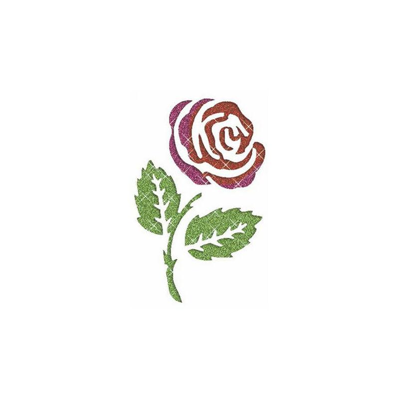 Tetováló sablon, öntapadós stencil - Virág 5