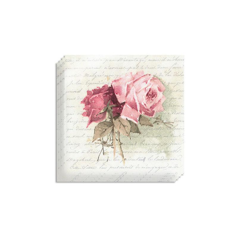Szalvéta csomag, Sagen - Vintage rózsa verssel