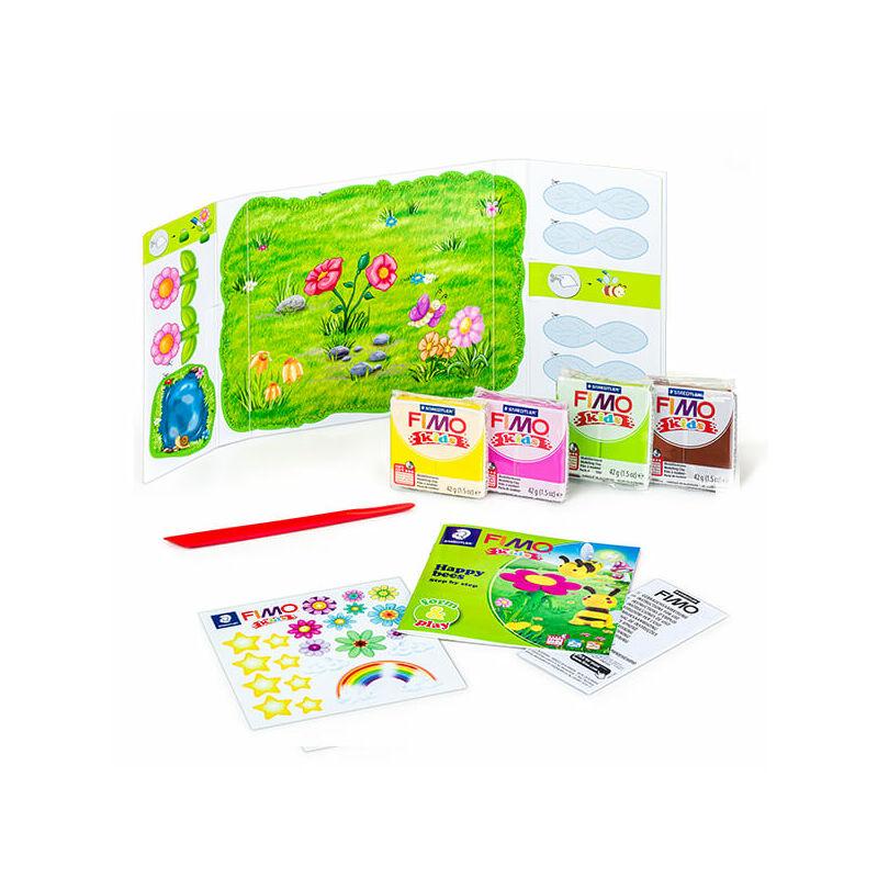 FIMO Kids süthető gyurma készlet, Form & Play - 4x42 g - méhek tartalom