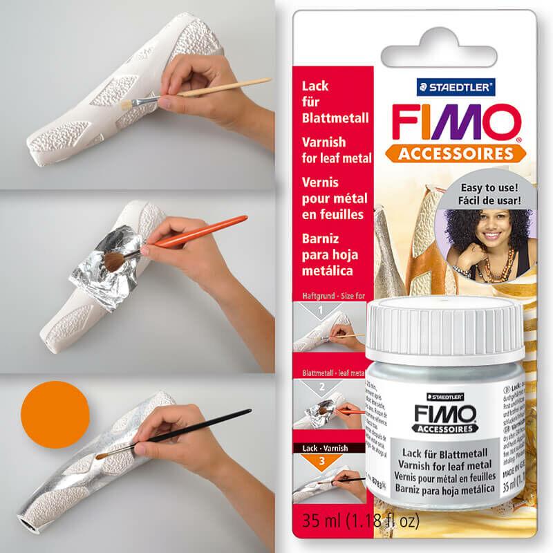 FIMO metálfólia, aranyfüst lakk, schellack aranyozáshoz 35 ml