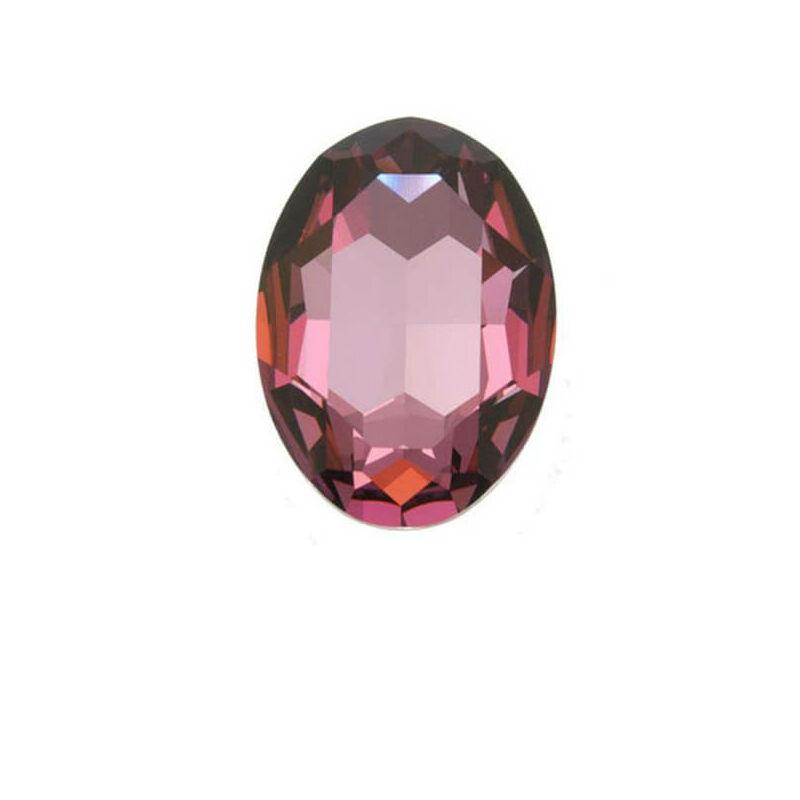 4127 Swarovski ovális befoglalható kristály, 30x20 mm - Crystal Antique Pink