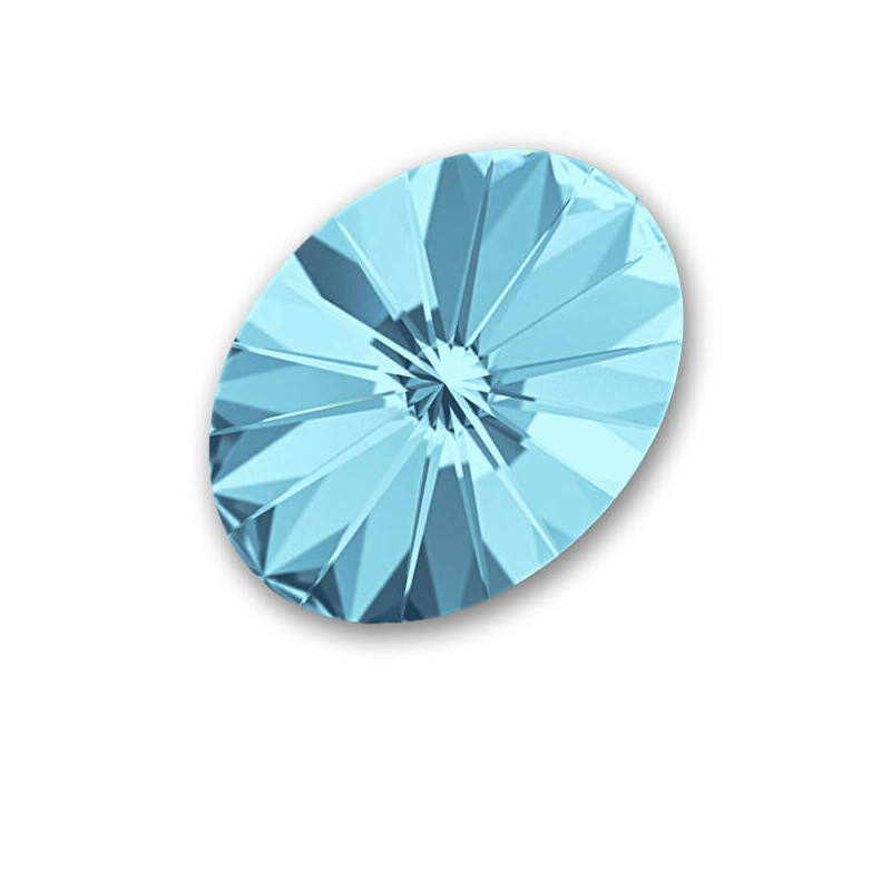 4122 Swarovski ovális rivoli kristály, 18x13,5 mm - Aquamarine F