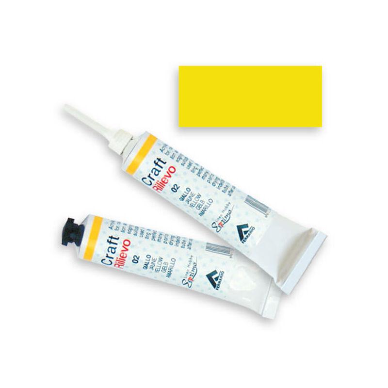 Ferrario kontúrfesték, nem kiégethető, színes, 20 ml - sárga, 02