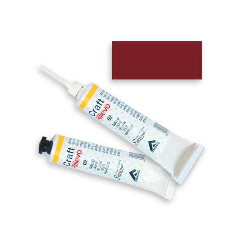 Ferrario kontúrfesték, nem kiégethető, színes, 20 ml - keleti piros, 07