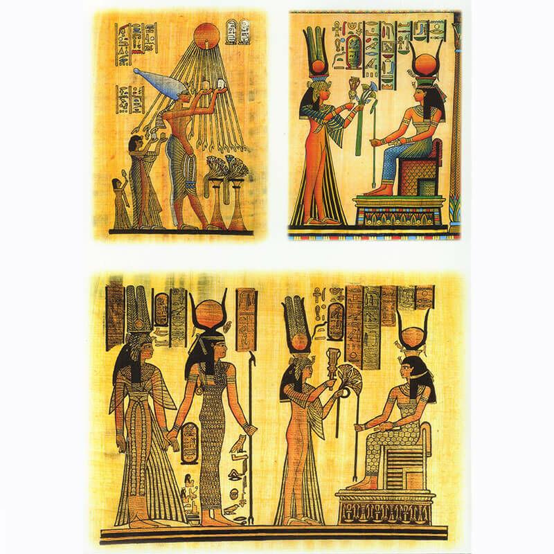 Rizspapír - egyiptomi figurák