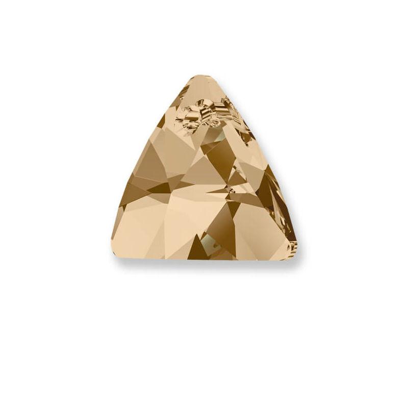 6628 Swarovski Triangle függő, 12 mm - Crystal Golden Shadow