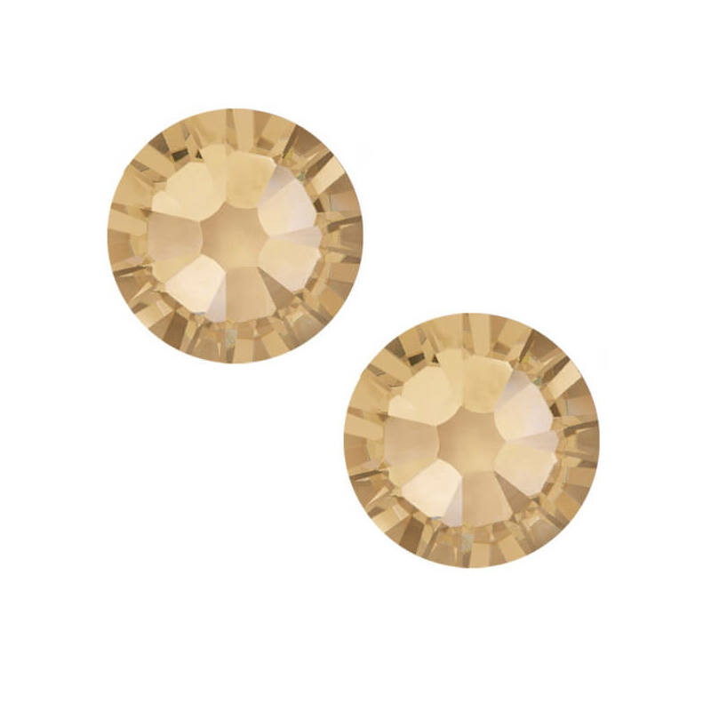 2038 Swarovski Xilion Rose Hotfix vasalható kristály, SS10 (2,8 mm) - Crystal Golden Shadow