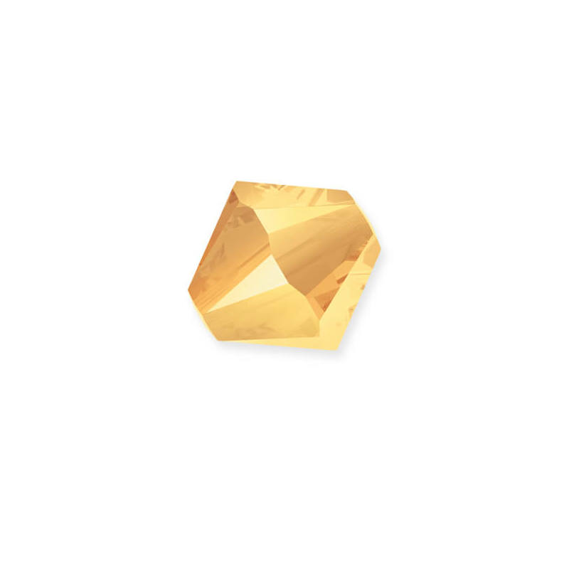 5328 Swarovski kúpos gyöngy, 4 mm - Crystal Metallic Sunshine 2x