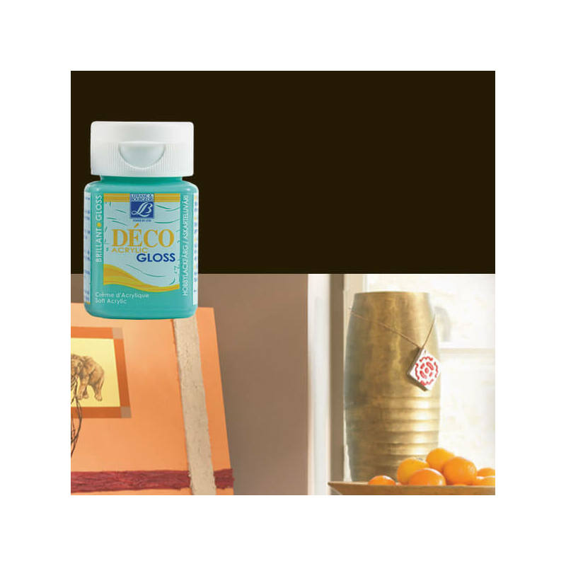 Deco Gloss fényes akrilfesték, 50 ml - black