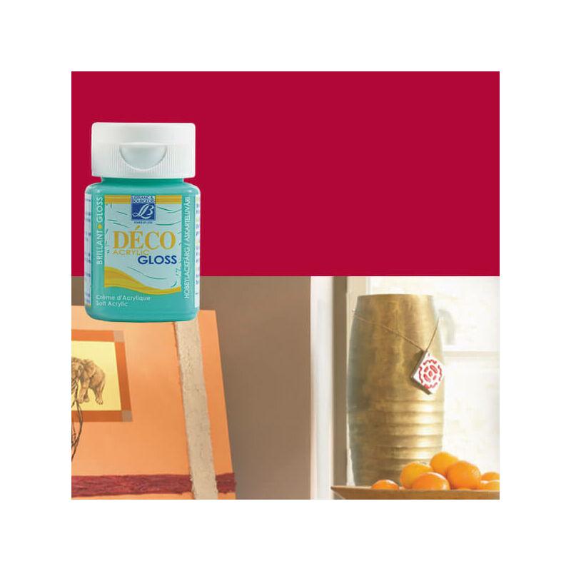 Deco Gloss fényes akrilfesték, 50 ml - carmine