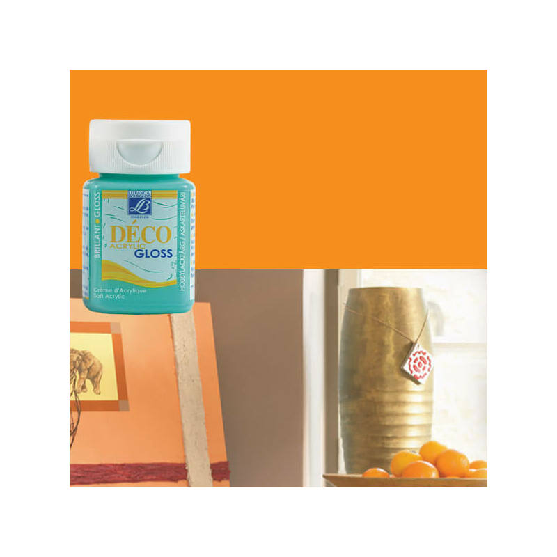 Deco Gloss fényes akrilfesték, 50 ml - coral