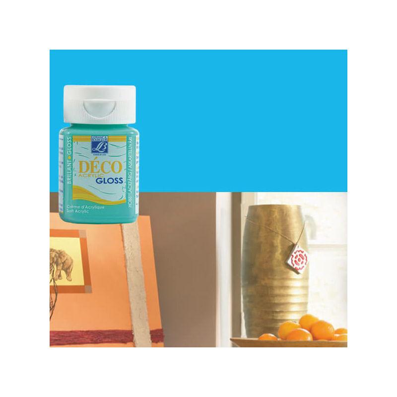 Deco Gloss fényes akrilfesték, 50 ml - light blue