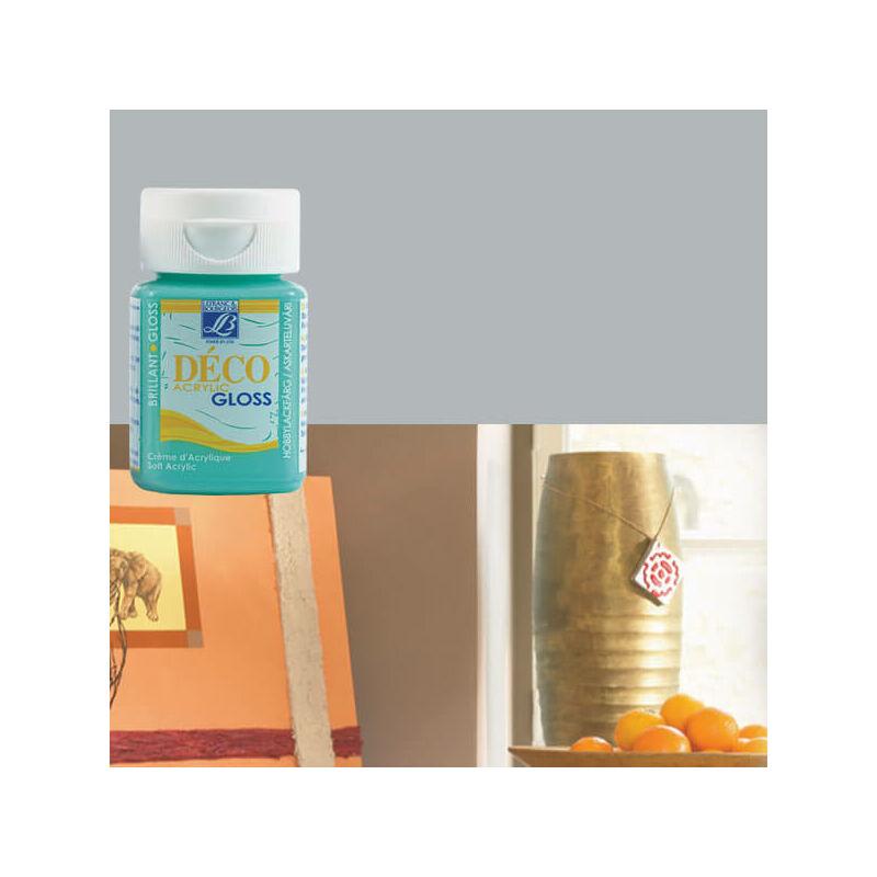Deco Gloss fényes akrilfesték, 50 ml - light grey
