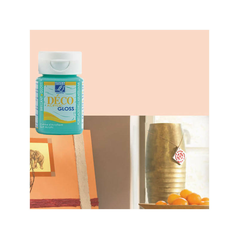 Deco Gloss fényes akrilfesték, 50 ml - light peach