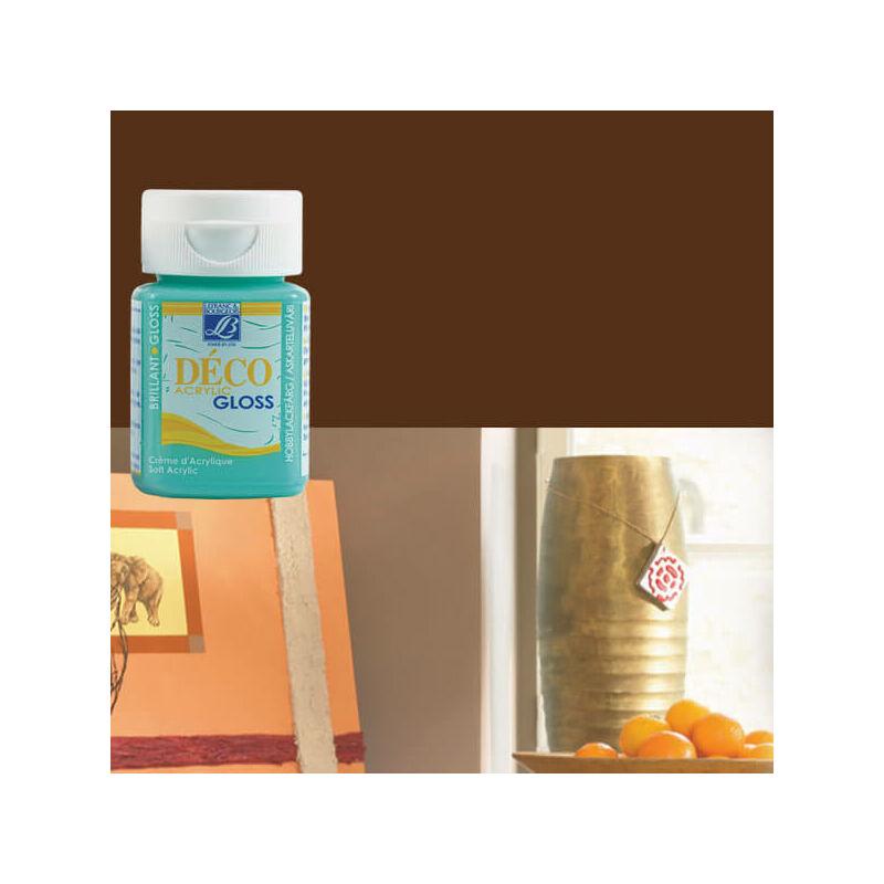 Deco Gloss fényes akrilfesték, 50 ml - mahagony