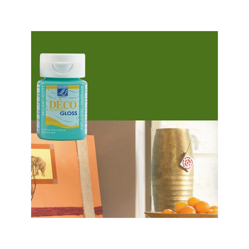 Deco Gloss fényes akrilfesték, 50 ml - olive green