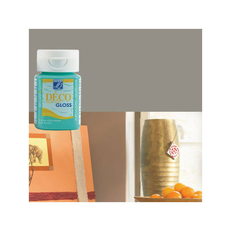 Deco Gloss fényes akrilfesték, 50 ml - pewter