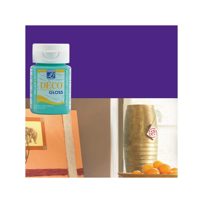 Deco Gloss fényes akrilfesték, 50 ml - purple