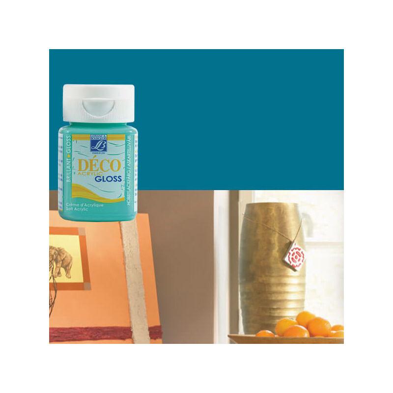 Deco Gloss fényes akrilfesték, 50 ml - turquoise