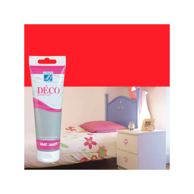 Home Deco matt akrilfesték, 120 ml - carmine red