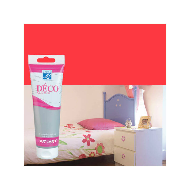 Home Deco matt akrilfesték, 120 ml - passion red