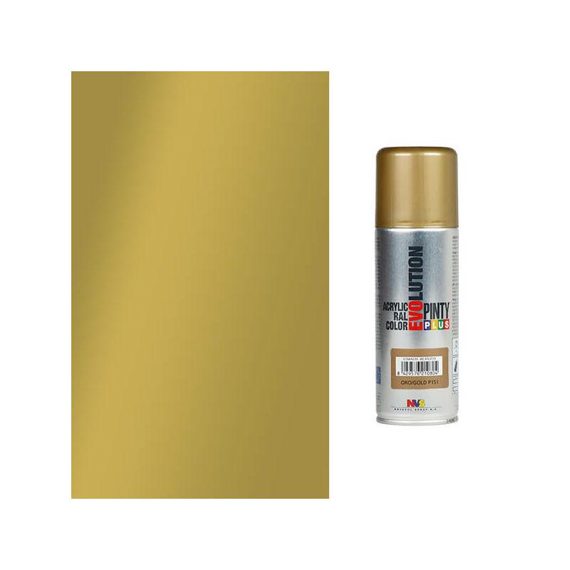 Akrilfesték spray, EVOLUTION fényes, 200 ml - P151 arany