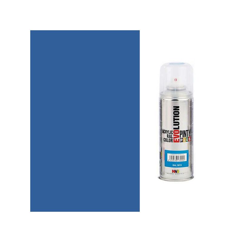 Akrilfesték spray, EVOLUTION fényes, 200 ml - 5017 közlekedési kék