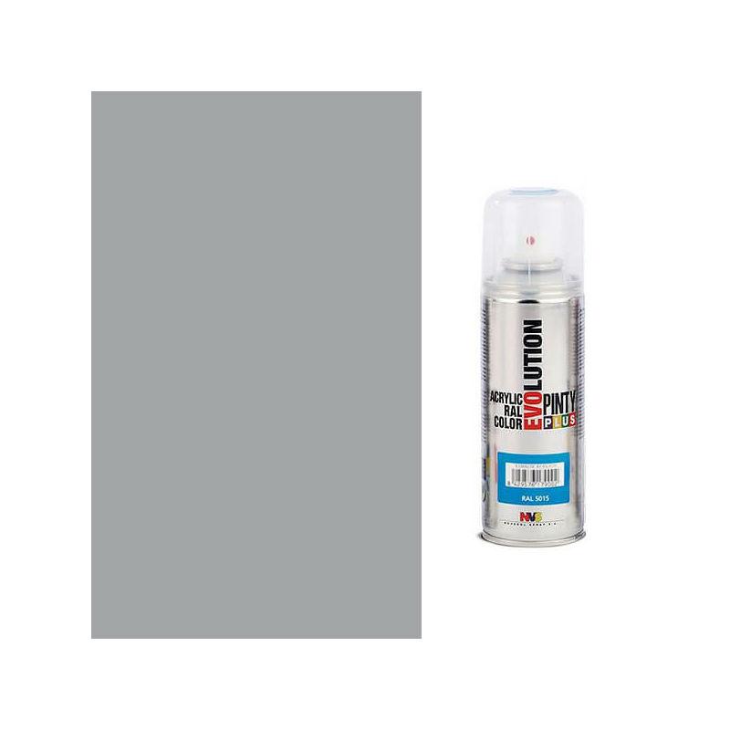 Akrilfesték spray, EVOLUTION fényes, 200 ml - 7042 közlekedési szürke