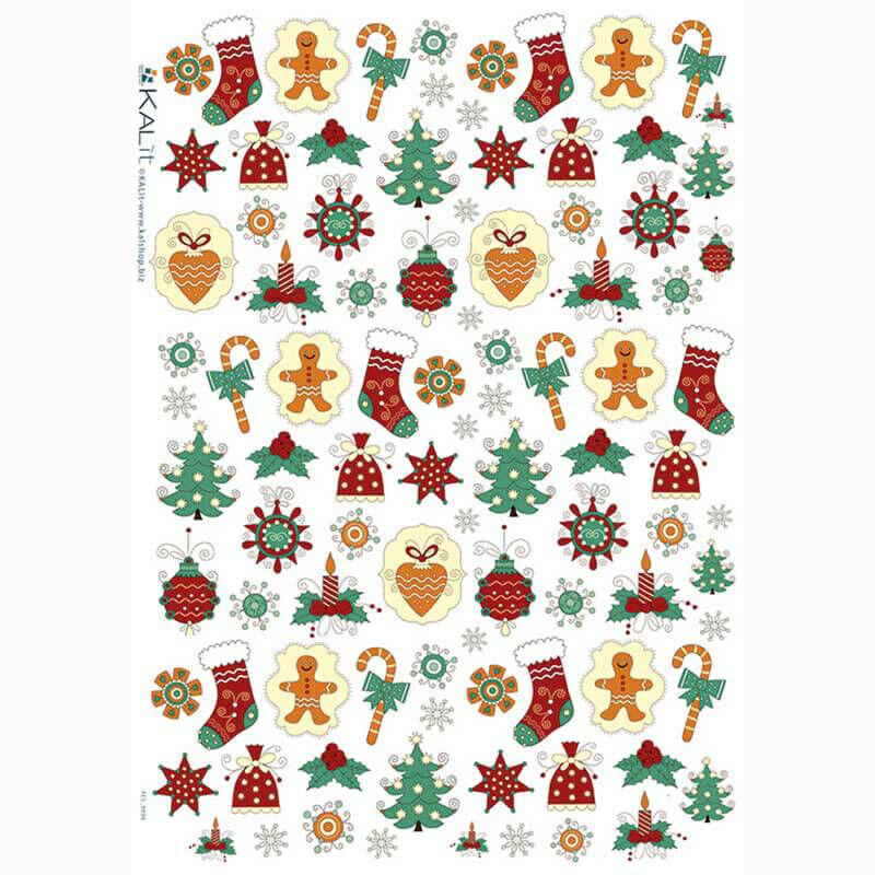 Rizspapír - karácsonyi motívumok
