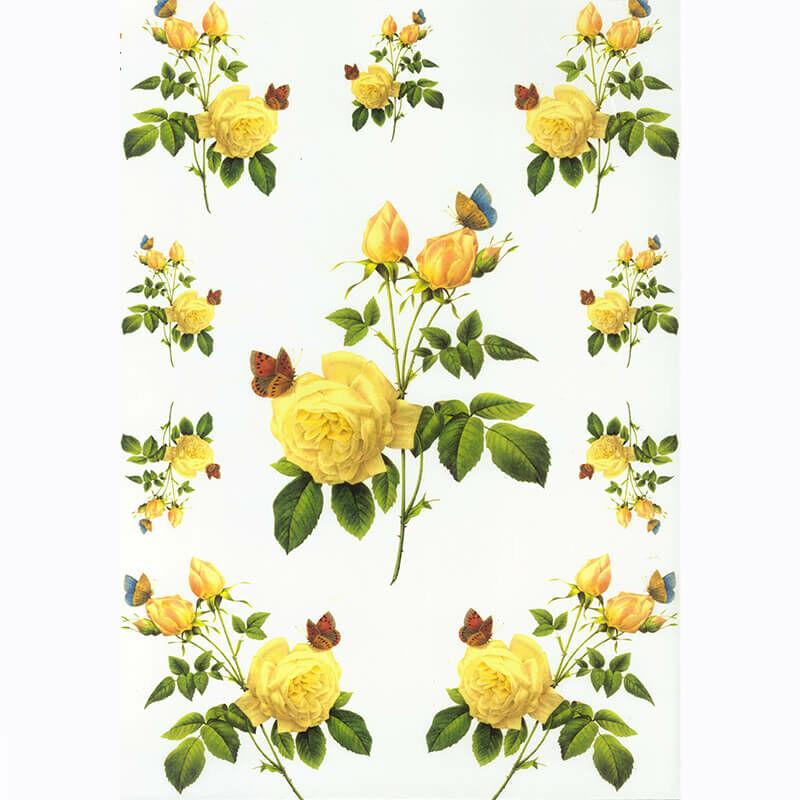 Rizspapír - sárga rózsa