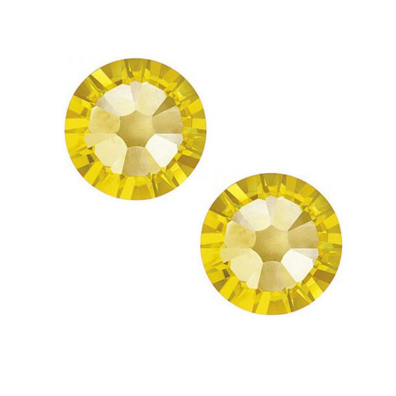 2058 Swarovski Xilion Rose ragasztható kristály, SS5 (1,8 mm) - Light Topaz
