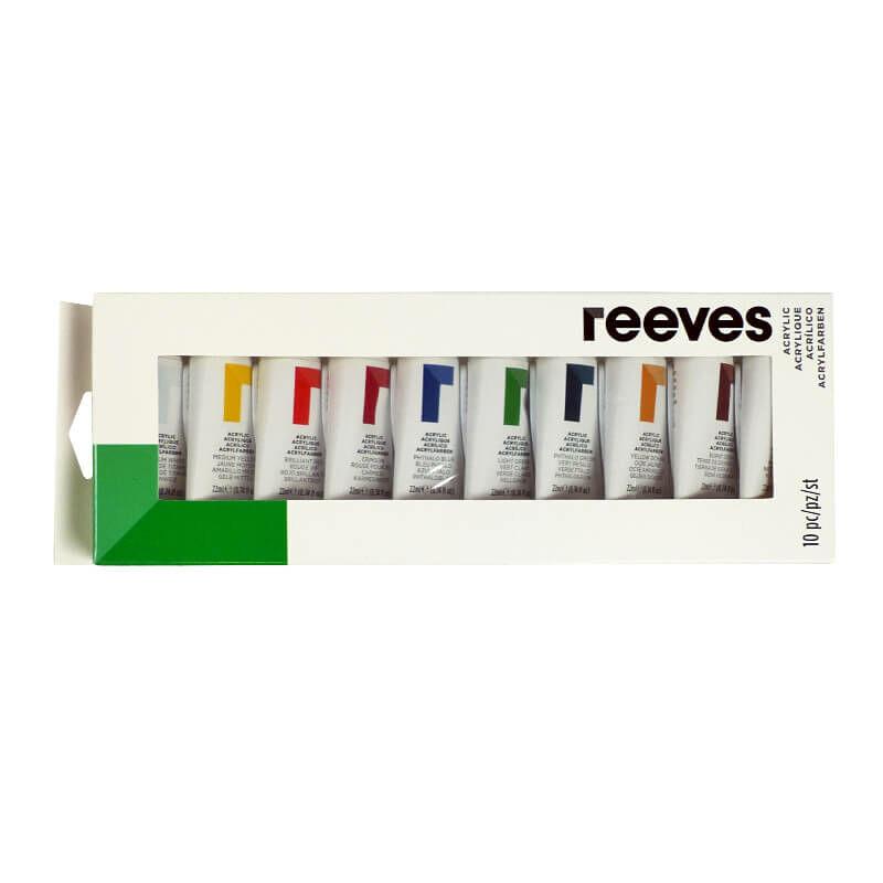 Reeves akrilfesték készlet, 10x22 ml