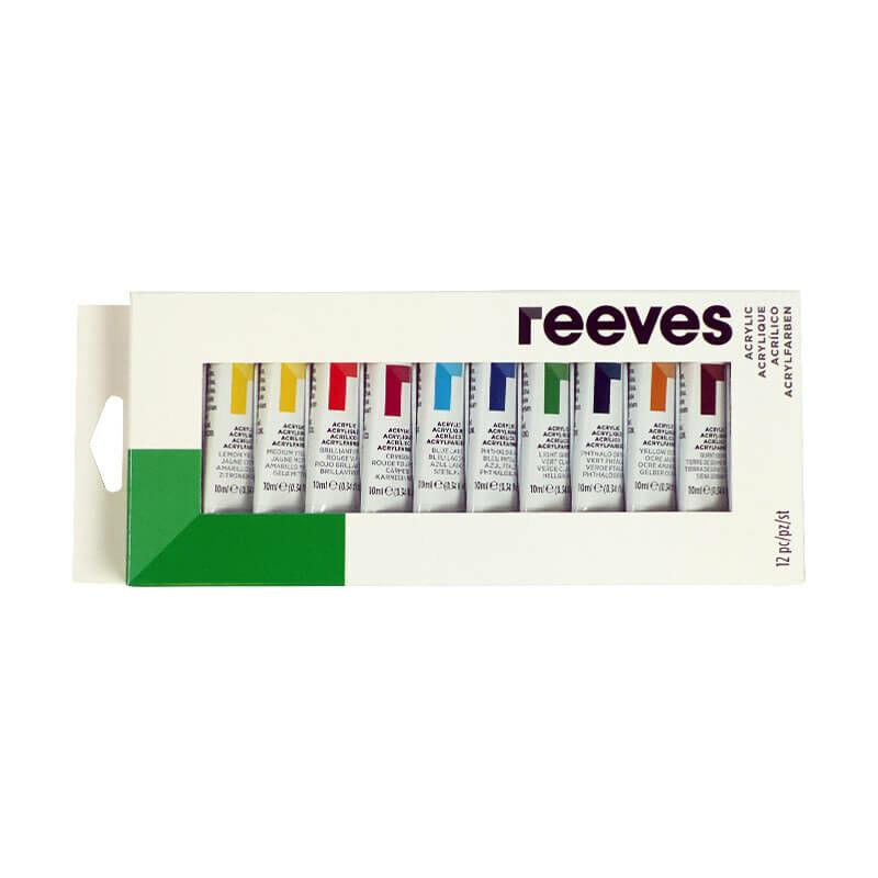 Reeves akrilfesték készlet, 12x10 ml