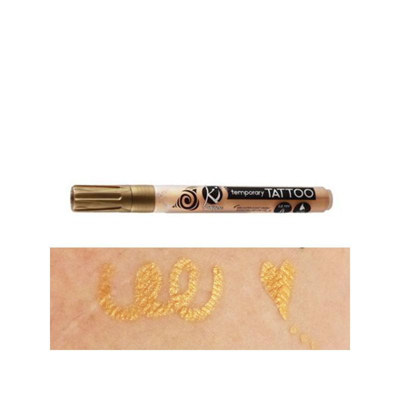 Tetováló filc, ideiglenes Tattoo, 0,8-3 mm - arany