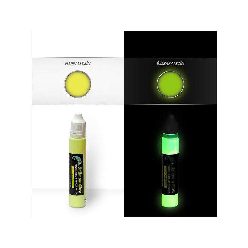 UnikromGlow világító kontúrfesték, 30 g - citrom