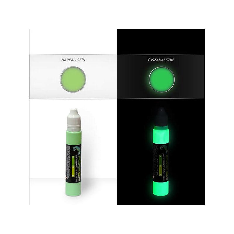UnikromGlow világító kontúrfesték, 30 g - lime