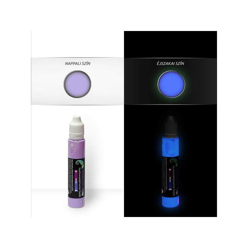 UnikromGlow világító kontúrfesték, 30 g - ibolya