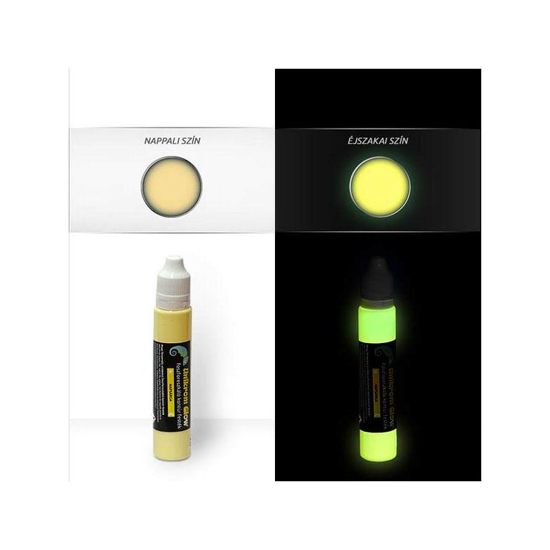 UnikromGlow világító kontúrfesték, 30 g - napsárga