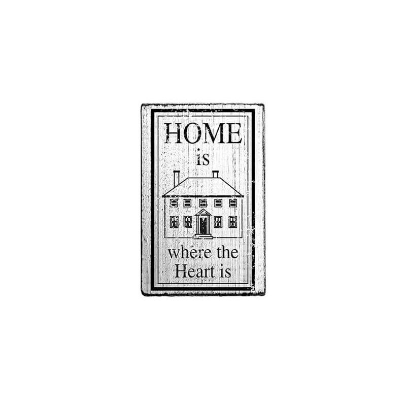 Pecsételő, Woodies, Vintage, 4x6 cm - Home is where the heart is