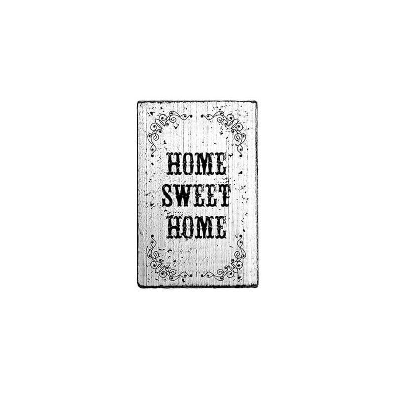 Pecsételő, Woodies, Vintage, 4x6 cm - Home sweet home