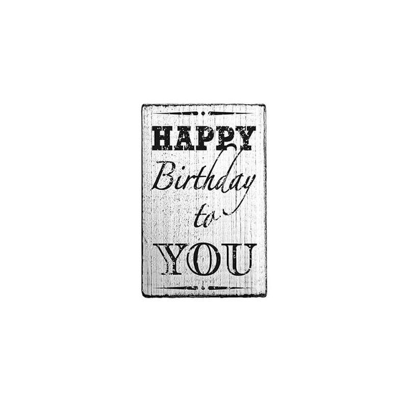 Pecsételő, Woodies, Vintage, 4x6 cm - Happy birthday to you