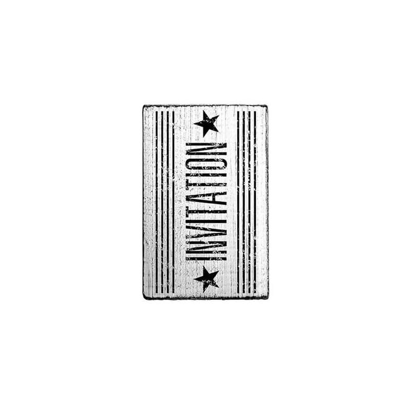Pecsételő, Woodies, Vintage, 4x6 cm - Invitation stars