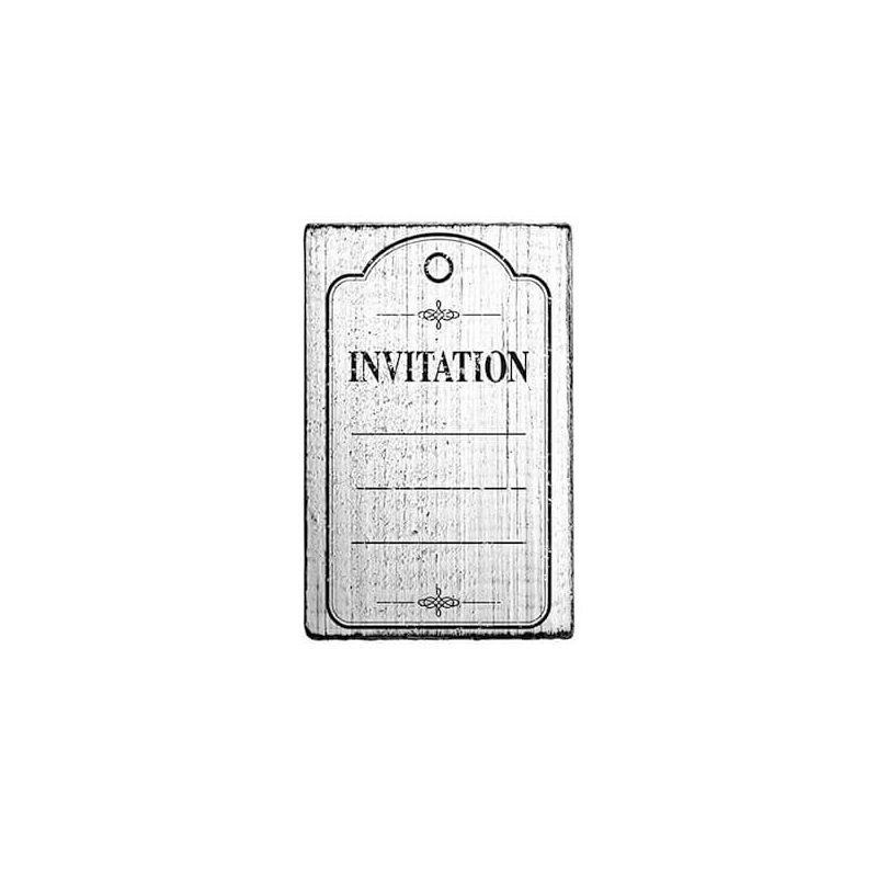Pecsételő, Woodies, Vintage, 4x6 cm - Invitation frame
