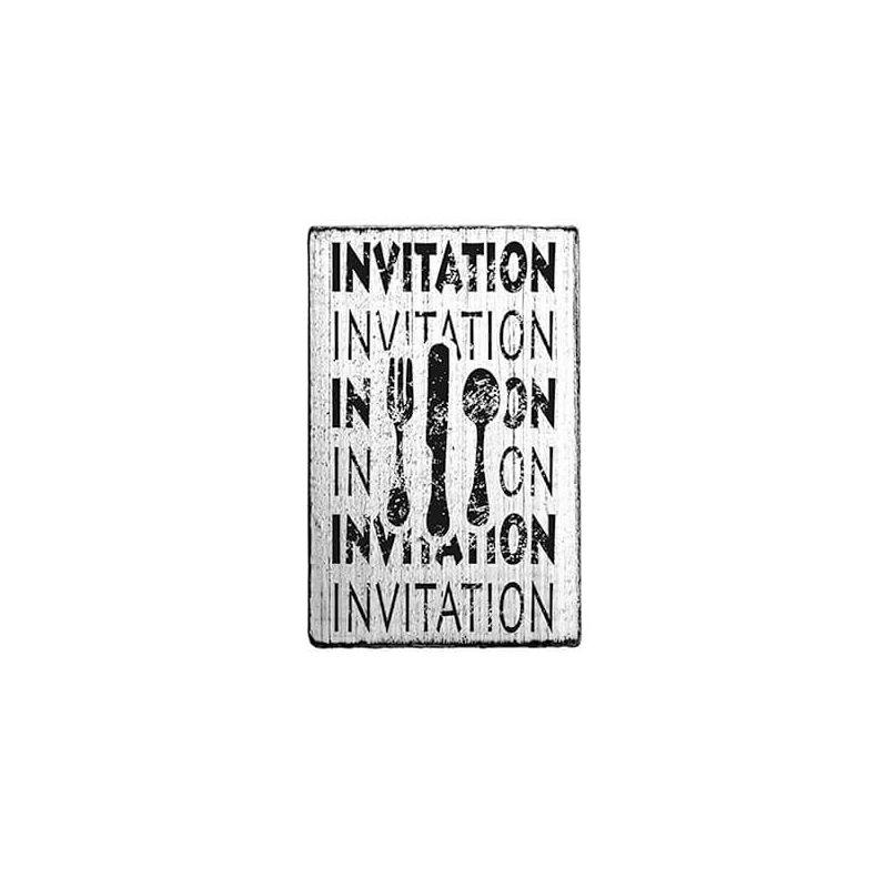 Pecsételő, Woodies, Vintage, 4x6 cm - Invitation invitation
