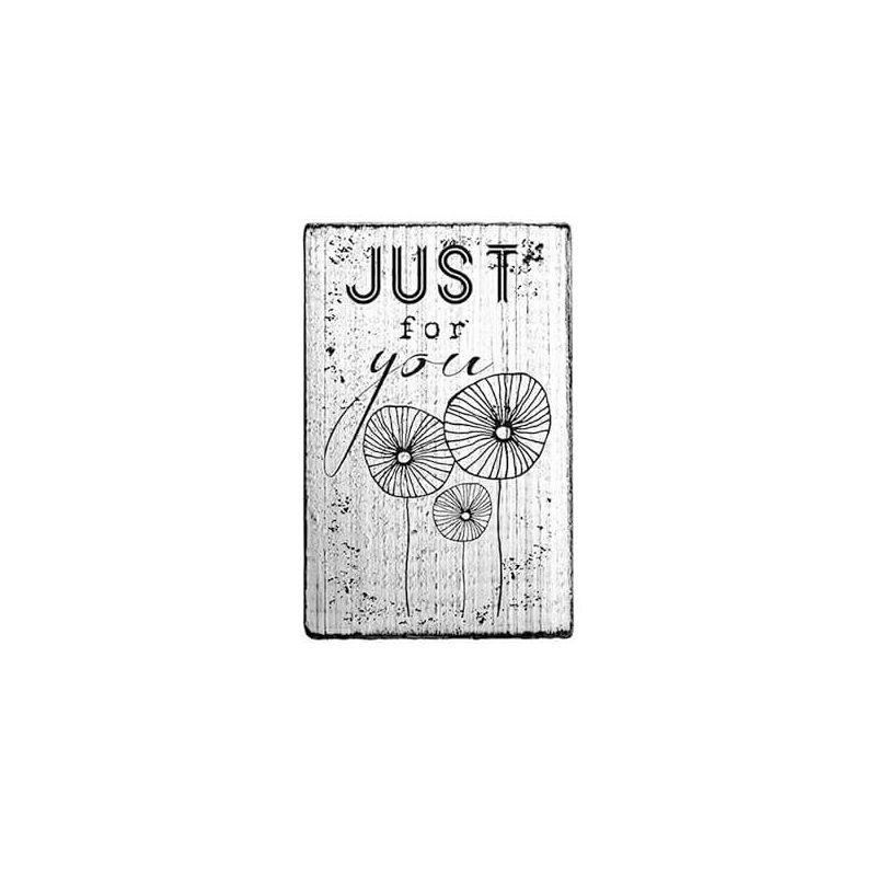 Pecsételő, Woodies, Vintage, 4x6 cm - Just for you