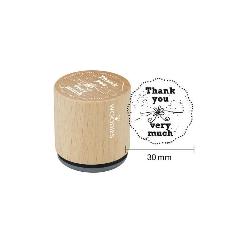 Pecsételő, Woodies, 3 cm - Thank you very much