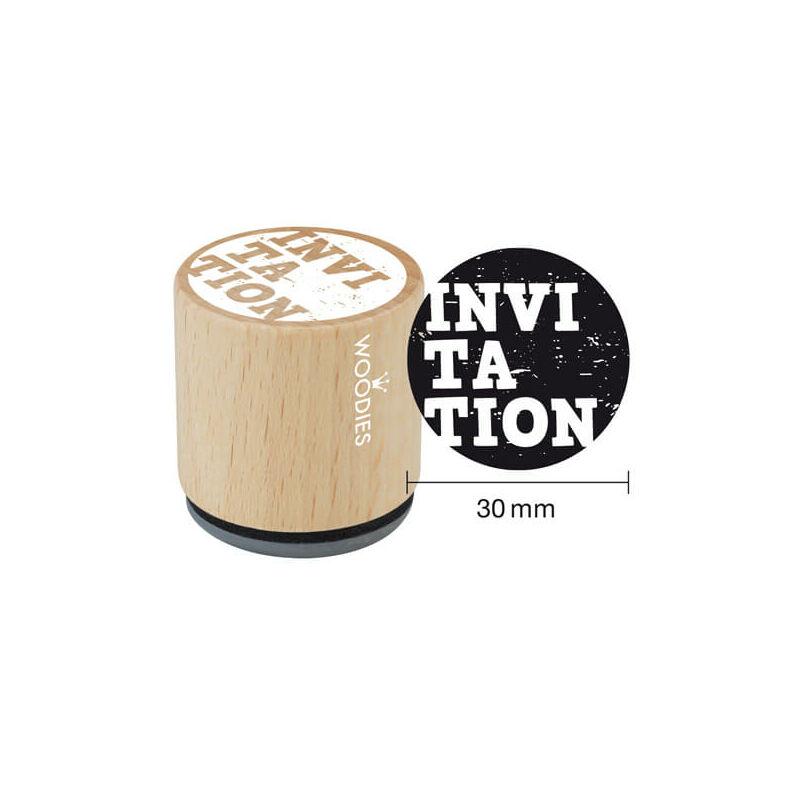 Pecsételő, Woodies, 3 cm - Invitation