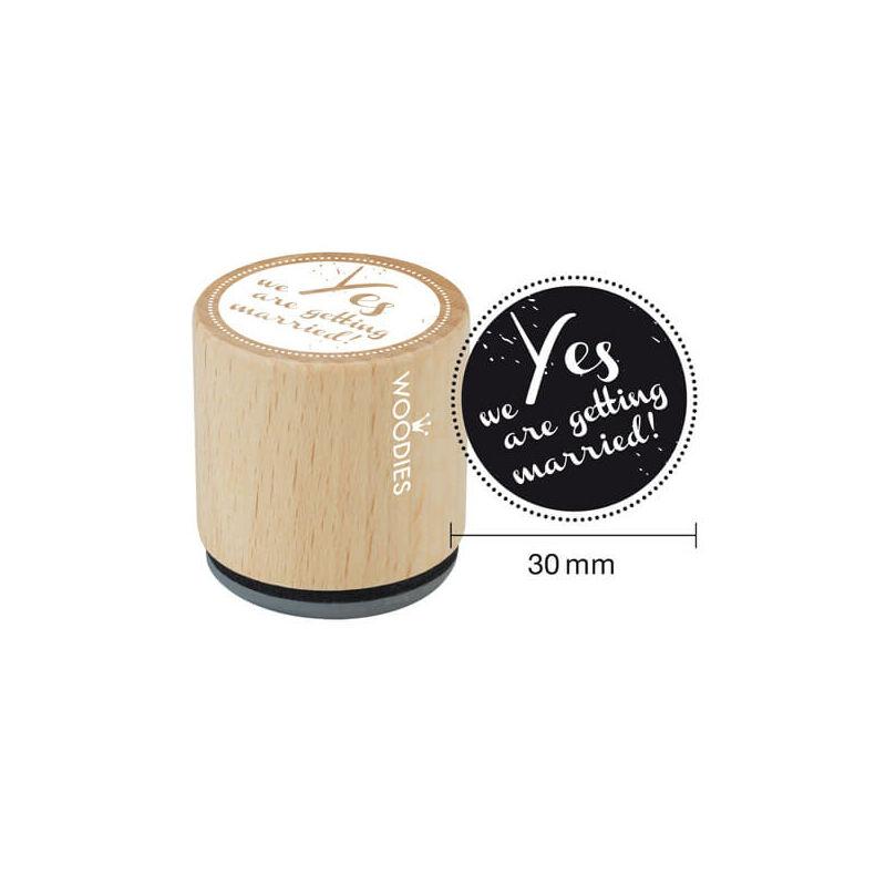 Pecsételő, Woodies, 3 cm - Yes we are...