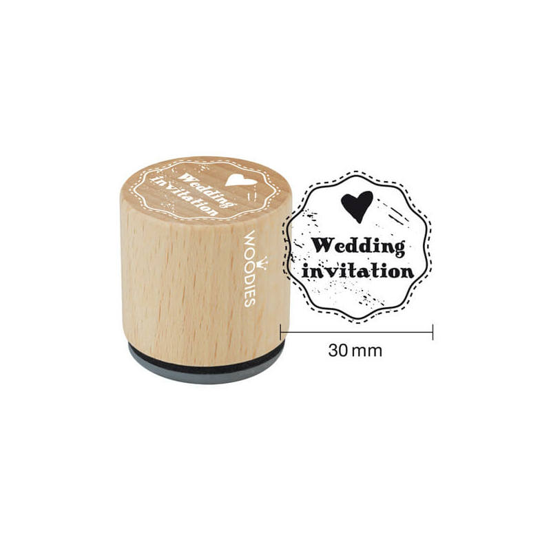 Pecsételő, Woodies, 3 cm - Wedding invitation