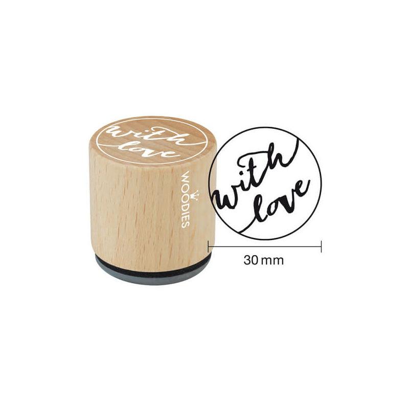 Pecsételő, Woodies, 3 cm - With love